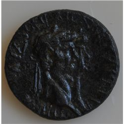Claudius with Agrippina Jr. (41-54 AD) - AE-20  Mostene,   Lydia   Obv:  Conjoined heads of Claudius