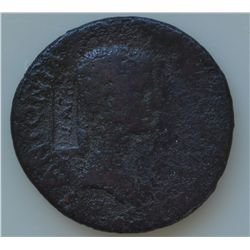 Claudius With Antonia (41-54 AD) - AE-Dupondius   Rome 41-42 AD.  Obv: Antonia r., bare headed   ANT
