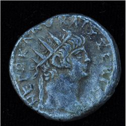Nero (54 - 68 AD) - Egypt AR-Tetradrachm 63-64 AD. Obv: Radiated hd. R. Rev: Bust of Sarapis r., wea