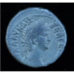 Nero With Agrippina Junior  (54-68 AD) - Egypt. AR-Tetradrachm 56-57 AD. Obv: Laur. hd. of Nero r. R