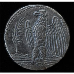 Nero (54-68 AD) -  Antioch AR-Tetradrachm Syria  Obv: Laur. hd. of Nero r. Rev: Eagle stg. l., palm