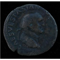 Vespasian (69-79 AD) - AE-As  Rome 71 AD. Obv: Laur. hd. r., IMP CAES VESPASIAN AVG COS III  Rev: Ju