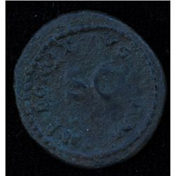 Domitian (81-96 AD) - AE-Quadrans   Rome   Obv: Rhinoceros walking l. , no legend  Rev: S C surround