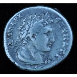 Trajan (98-117 AD) - Phoenicia Tyre, AR-Tetradrachm. Obv:Laur. hd. r. eagle below, club in front, pa