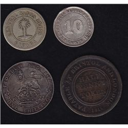 Little lot of Foreign Coins - Includes 1884 Saint Lucia ration coin, 1898 Straits Settlements Ten ce