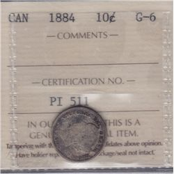 1884 Ten Cent - ICCS G-6.