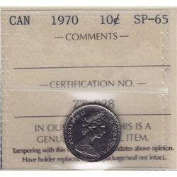 1970 Ten Cent Specimen - ICCS SP-65.