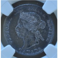 1872H Twenty Five Cent - NGC AU Details, surface hairlines.