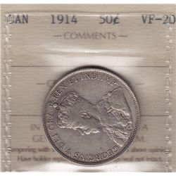1914 Fifty Cent - ICCS VF-20.