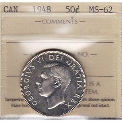 1948 Fifty Cent - ICCS MS-62.