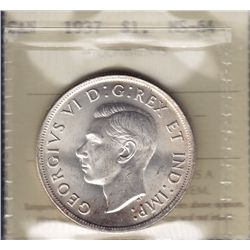 1937 Silver Dollar - ICCS MS-64.