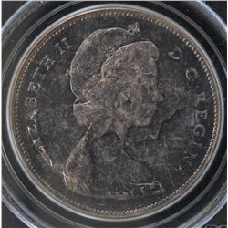 1967 Silver Dollar  - PCGS MS63, Toned. Double Struck, rotated die.