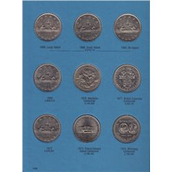 1968 Complete Set of Nickel Dollars with Varieties - Dates include: 1968 through 1987 with 1968 smal