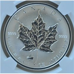 1998 Titanic $5 Silver Maple Leaf - NGC SP66.