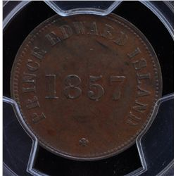 CH PE-7C1 - BR 919, 1857 Self Government and Free Trade PEI Token. PCGS AU58. Ex:Temple.