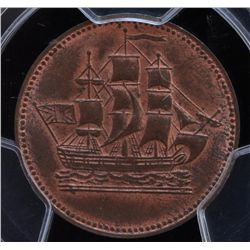 CH PE-10-30 - BR 997, 1835 Ships Colonies and Commerce PEI Token, PCGS MS64 RB. Ex:Temple.