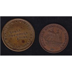 CH NS-17A1 Lot of Two Nova Scotia Tokens  - Lot of Two Nova Scotia Tokens - Nova Scotia W L White, N