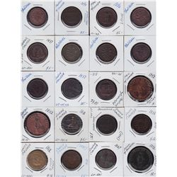 Large Lot of Lower Canada Tokens  - Ideal for study, this lot is a diverse mix of tokens from Lower