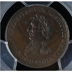 CH WE-11A6 - BR 987, Wellington Lower Canada Half Penny Token (c.1812), PCGS MS63 BN. Ex:Temple.
