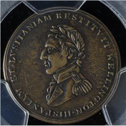 CH WE-11A7 - BR 987,  Wellington Lower Canada Half Penny Token (c.1812), PCGS VF Details. Ex:Temple.