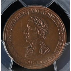 CH WE-11B2 - BR 986, Wellington Lower Canada Half Penny Token (c.1812), PCGS MS63 BN. Ex:Temple.