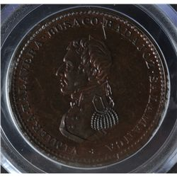 CH WE-13 - BR 985, Wellington Lower Canada One Penny Cossack Token (1813), PCGS MS64 BN. Ex:Temple.