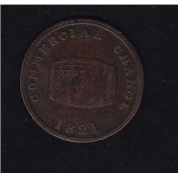 CH UC-10  - BR 728, 1821 Commercial Change Token, F/VF.