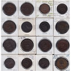 Large Lot of Tokens - Includes: Quebec Bank Tokens, Nova Scotia, PEI, New Brunswick, Bouquet Sous, S