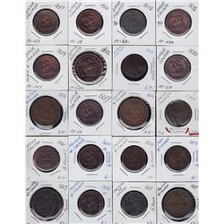 Large Lot of Upper Canada Tokens - Ideal for study, this lot is a diverse mix of tokens from Upper C