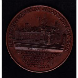 Numismatic and Antiquarian Society of Montreal - Obv: Chateau de Ramezay Bicentennary 1906/ Illus. o