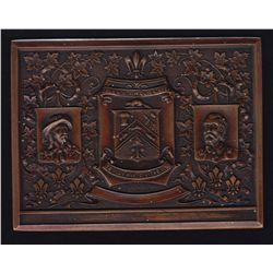 Magnificent Bronze plaque commemorating the 300th anniversary of Trois Riviere - (Three Rivers) prod