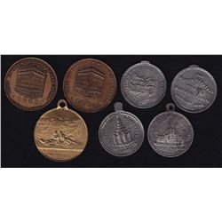 Lot of 7 different medals from the Province of Quebec  - Includes: Five different Winter Carnival me