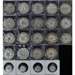 Lot of 23 Canada Centenary Medals  - Silver plated, set of 12 and 7 duplicates, 57.8 gms each. 23 Pc