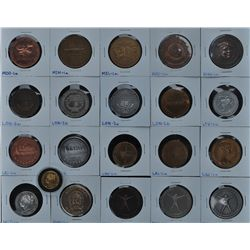 Lot of 21 Centennial Medals  - Includes: The Big Penny (LAR-1), Lac La Biche (LAC-1a), Land O'Lakes
