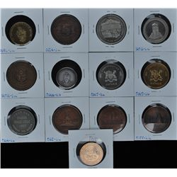 Lot of 13 Centennial Medals - Includes: Nelson (NEL-1a), Niagara Falls Hydro Electric Power set of t