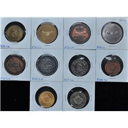 Lot of 10 Centennial Medals - Includes: Ponoka Stampede (PON-1a), Alberni Valley Coin Club Set of th
