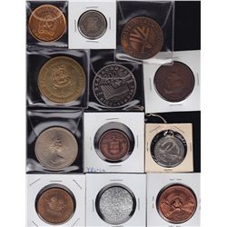 Lot of 16 odds and sods - Lot includes: three centennial medals - Yellowknife - (YEL-1a), Alberta 4-