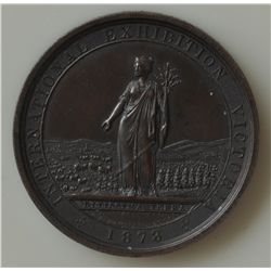 "International Exhibition Victoria 1873 / Prize Medal - Awarded to ""The Hon. Samuel H. Bidon, Commiss"