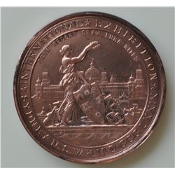 International Exhibition Sydney, N.S.W. - M.D. CCC. LXXIX/CROSBIE & Co/FOURTH AWARD. Bronze, 77mm, 2