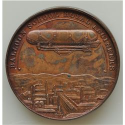 Edward VII Royal Engineers Balloon School Medal - This medal is Copper, issued in 1907. Great match