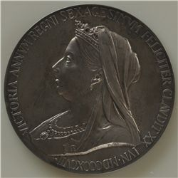 1837-1901 Royal Medal  - Royal Mint Queen Victoria Diamond Jubilee Silver Medal, AU.