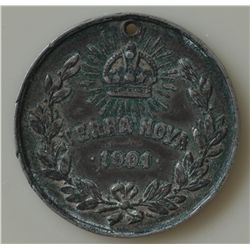 The Currency & Medals of Newfoundland Royal Medal - T.R.H The Duke and Duchess of Cornwall & York Re