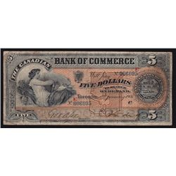 1906 Bank of Commerce $5  - CH 75-14-08a, E Overprint for the branch that it came out of, 4 known, F