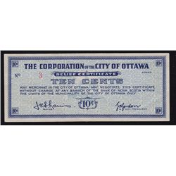 Ottawa Ontario Depression Scrip lot of Three - CH DE-130-1a, 5 Cent S/N:48824, CH DE-130-1a-i, 5 Cen