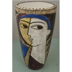 Picasso Womans Face Pottery Vase Sweden 4345