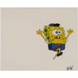 Spongebob Cel Job in Jeopardy Original Produciton Art