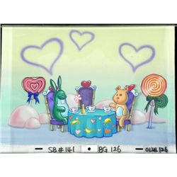 Original Background Tea Party Cel Production Spongebob