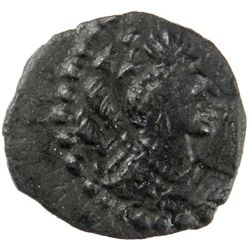 HEPHTHALITE: Nezak Malka type, 6th century AD, small AE unit (1.13g)
