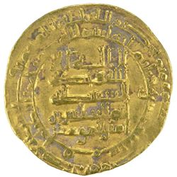 ABBASID: al-Muqtadir, 908-932, AV dinar (3.74g), Qumm, AH313