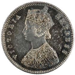 BRITISH INDIA: Victoria, 1857-1901, AR 1/2 rupee, Bombay, 1882 (b)